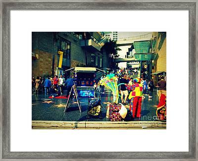 On Hollywood Boulevard In La Framed Print