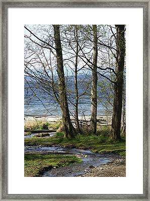 Framed Print featuring the photograph On Puget Sound by Jerry Cahill