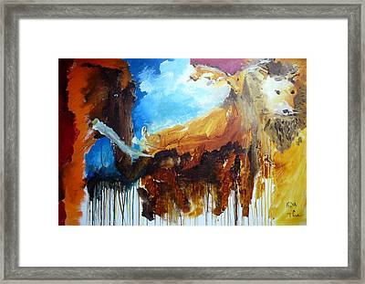 On Safari Framed Print by Keith Thue