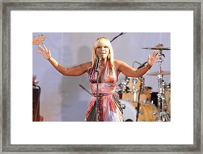 On Stage For Good Morning America Gma Framed Print by Everett