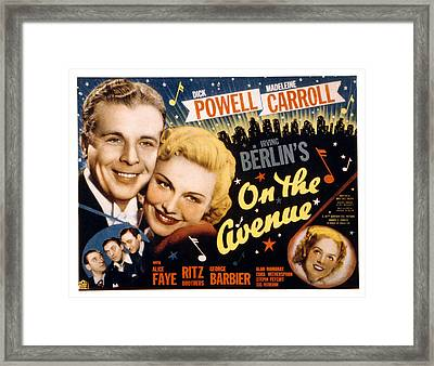 On The Avenue, Dick Powell, Madeleine Framed Print