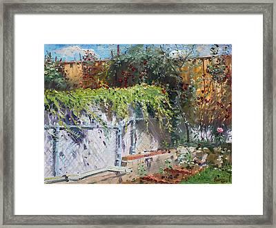 On The Backyard Of My Studio Framed Print by Ylli Haruni