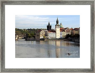 On The Banks Of Vltava River Framed Print