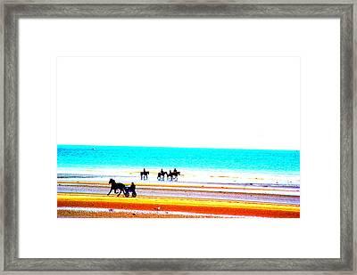 On The Beach Framed Print by Amanda Pillet