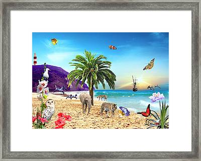On The Beach Framed Print by Emily Campbell