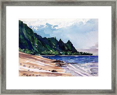 On The Beach Framed Print by Jon Shepodd