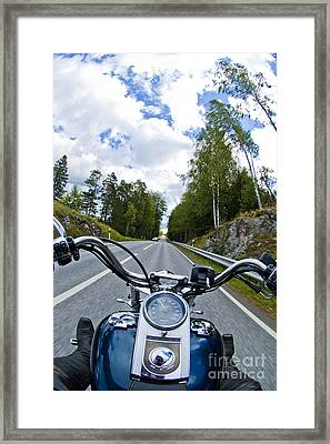 On The Bike Framed Print by Micah May