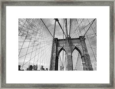 On The Borrklyn Bridge Framed Print by Holger Ostwald
