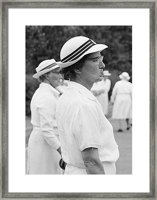 On The Bowling Green Framed Print by John Drysdale