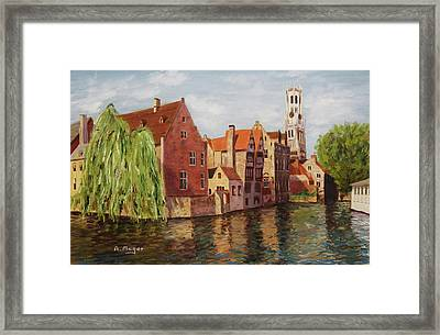 On The Canal Framed Print