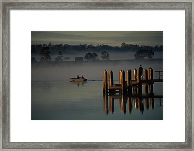 On The Clarence River Near Grafton, Two Framed Print