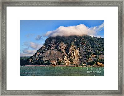 On The Columbia River Framed Print by Edward R Wisell