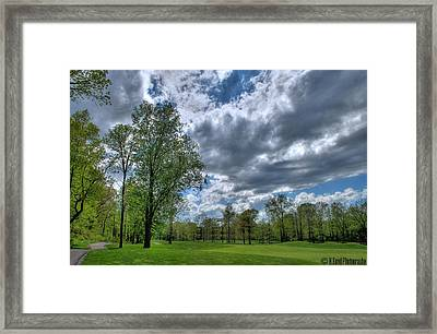 On The Course  Framed Print by Heather  Boyd