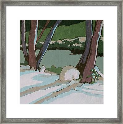 On The Creek Framed Print by Sandy Tracey