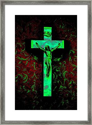 Framed Print featuring the photograph On The Cross by David Pantuso