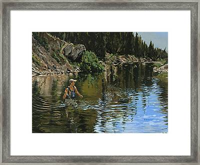 On The Deadwood River Framed Print