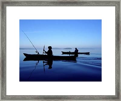 On The Deep Blue Sea Framed Print