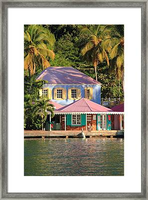 On The Dock Framed Print
