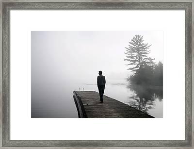 On The Dock Framed Print by Seana Stevenson