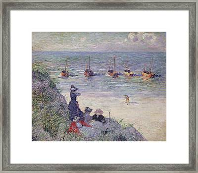 On The Dunes Framed Print by Theo van Rysselberghe
