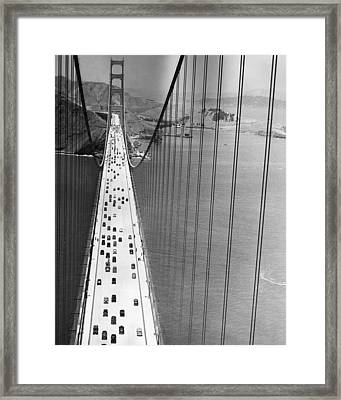 On The Golden Gate Framed Print by Archive Photos