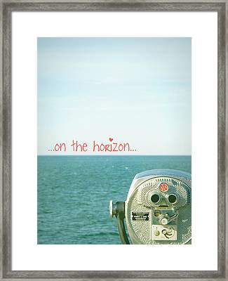 Framed Print featuring the photograph On The Horizon by Robin Dickinson
