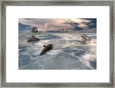 On The Hunt Framed Print by Claude McCoy