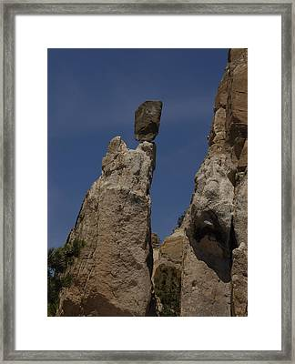 On The Lip Framed Print by Arlyn Petrie