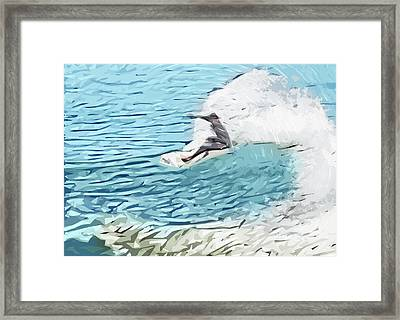 On The Lip Framed Print by Tilly Williams