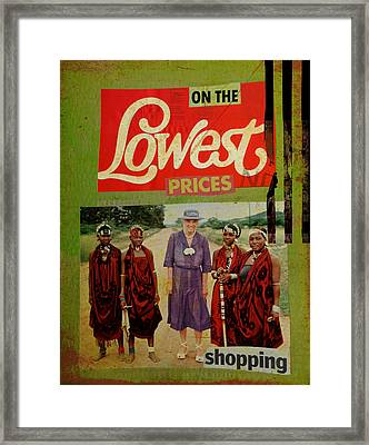 On The Lowest Prices Shopping Framed Print by Adam Kissel