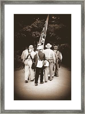 On The March Framed Print by Jonathan Bateman