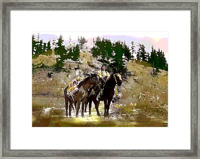 Framed Print featuring the mixed media On The Move by Charles Shoup