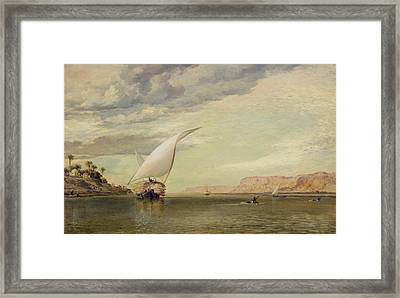 On The Nile Framed Print