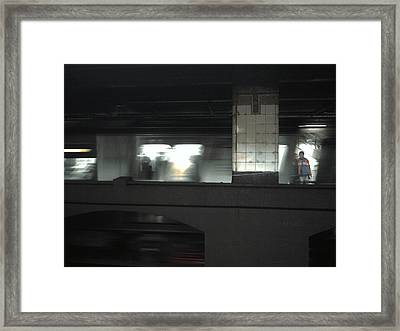 On The Platform Framed Print by Christine Burdine