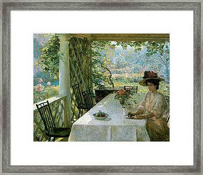 On The Porch Framed Print by William Chadwick