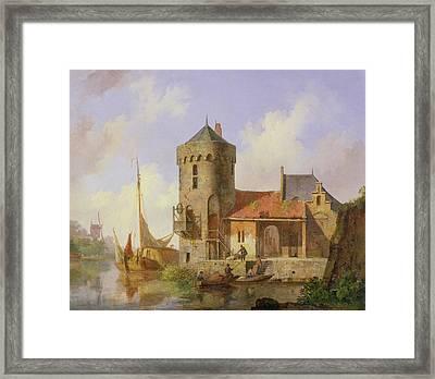 On The Rhine Framed Print