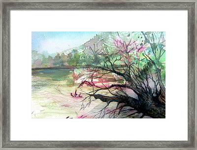 On The River Framed Print by Mindy Newman