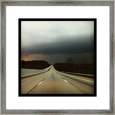 On The Road Again Framed Print by  Abril Andrade Griffith