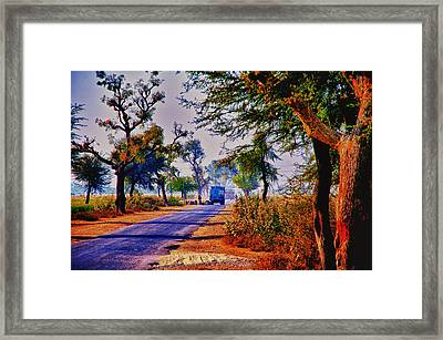 Framed Print featuring the photograph On The Road To Jaipur by Rick Bragan