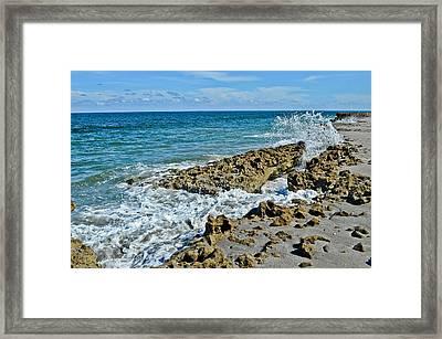 On The Rocks Framed Print by Julio n Brenda JnB
