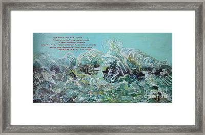 Framed Print featuring the painting On The Rocks by Rita Brown