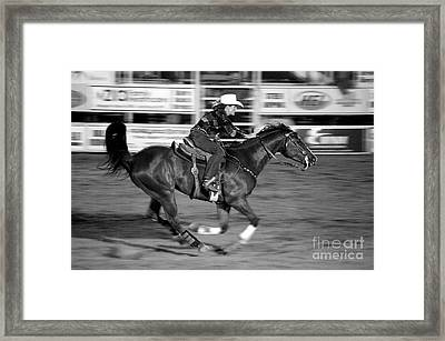On The Run Framed Print by Vicki Pelham