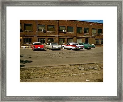 On The Set Framed Print