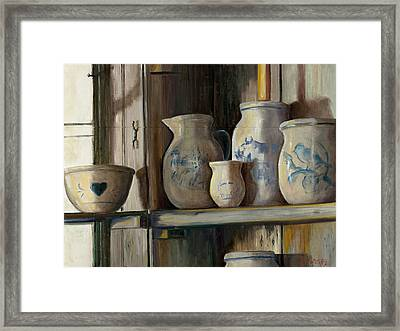 On The Shelf Framed Print by Sheila Kinsey