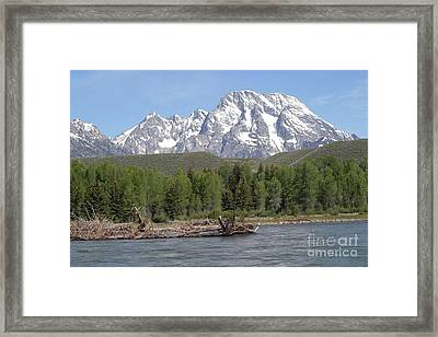 Framed Print featuring the photograph On The Snake River by Living Color Photography Lorraine Lynch