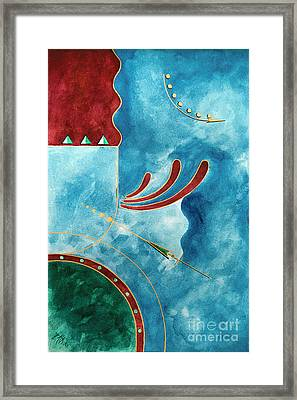On The Straight And Arrow Framed Print