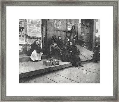 On The Street Framed Print by Steve K