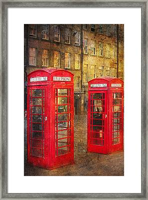 On The Streets Of Edinburgh  Framed Print