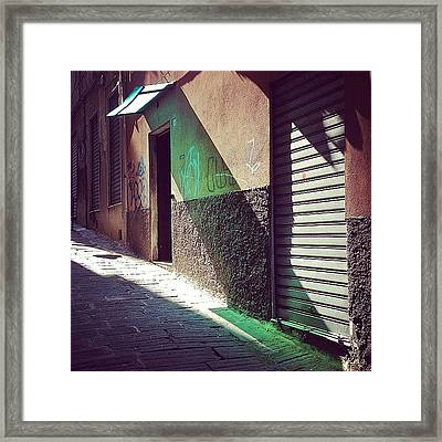 On The Sunny Side Of The Street #italy Framed Print