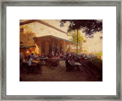 On The Terrace In Autumn 2011 Framed Print
